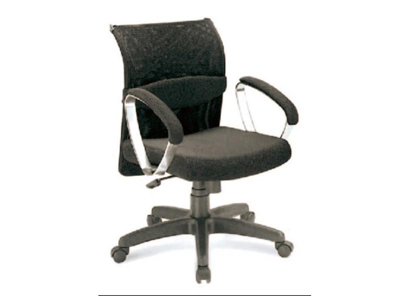 黑色网格员工座椅