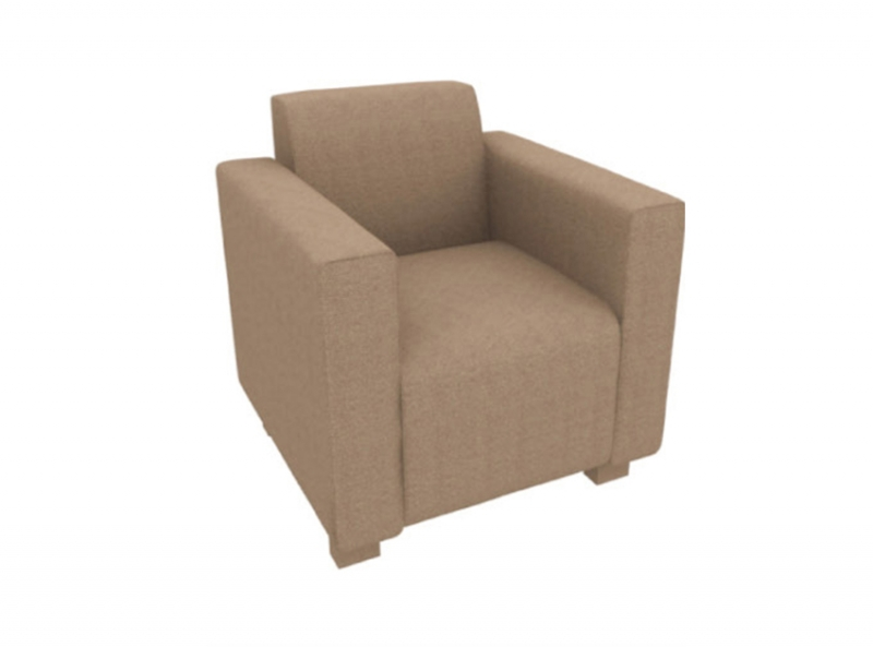 棕色仿皮单体沙发