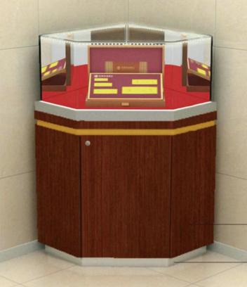 贵宾营销展柜直角式(矮柜)