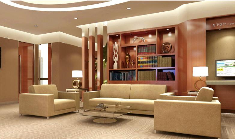 贵宾财富中心等候沙发、茶几