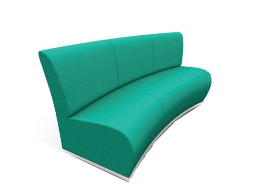 客户等候沙发(弧形)