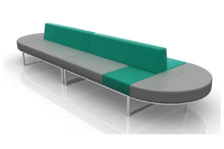 客户等候沙发(长条形)